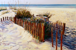 Beach Fence with Grass