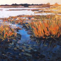 Print of Marsh at Sunset