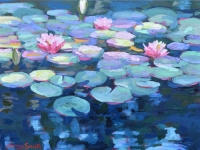 "SOLD 24"" x 18"" Lily Pads"