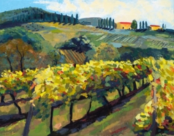 Tuscany Vineyards with Two Villas