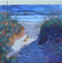"SOLD 12""x12"" Sawgrass Beach Walk at Sunrise"