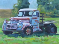 "SOLD 18"" x 12"" Old Truck, Taos, NM"