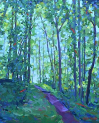 "SOLD 48"" x 60"" Ridge Trail at Sunrise"