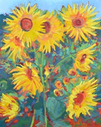 "48"" x 60"" Sunflowers"