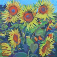 "36"" x 36"" Sunflowers To Go"