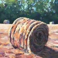 "36"" x 36"" Three Haybales"