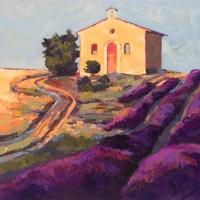 "36"" x 36"" Tuscany Chapel with Lavender Rows"