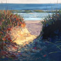 "36"" x 36"" Sawgrass Walk at Sunrise"